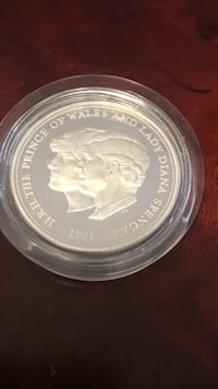 round silver-colored commemorative coin Vaughan, L6A 4B4