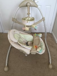 baby's white and green cradle n swing Rockville