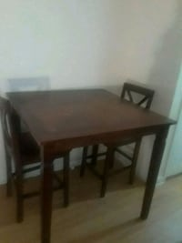 rectangular brown wooden table with four chairs dining set Washington, 20019