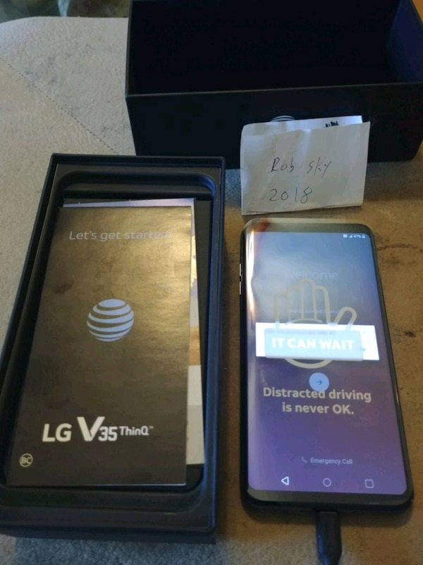 LG V35 THINQ BRAND NEW 64GB AT&T
