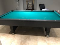 green and brown pool table Bolton, L7E 2K1