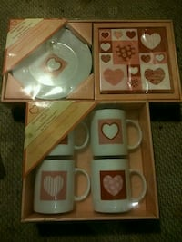 Valentine mugs and plates pick up only  London, N5W 2Y8