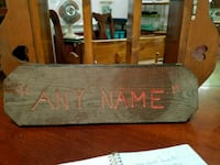 Personalized Name Plaque Harpers Ferry, 25425