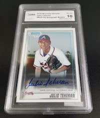 2010 Bowman Chrome Julio Teheran #BCP 105 Auto Rookie