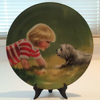 """""""Making Friends"""" Collector Plate"""