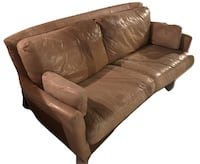 CHESTNUT LEATHER SOFA, Double Love Seat Couch (real leather) Vaughan, ON, Canada