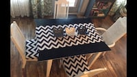 black and white chevron print table Red Deer, T4N 0T5
