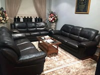 black leather recliner sofa set Vaughan, L4H 2L3
