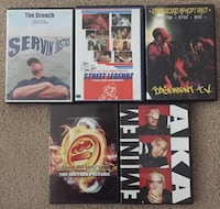 5 Assorted Hip-Hop DVDs  Rohnert Park, 94928