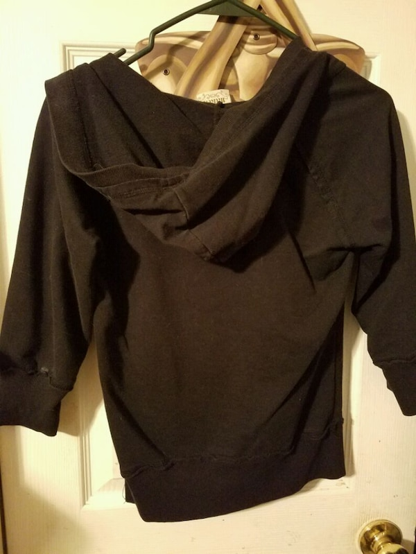 Black pullover hoodie with cross size small 1