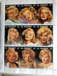 """Stamps Collection """"Marilyn Monroe"""" NEW Las Vegas, 89102"""