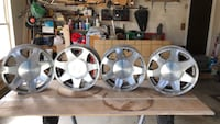 4 escalade wheels 17 inch  has same clear coat pealing fits most GM trucks Hilliard, 43026