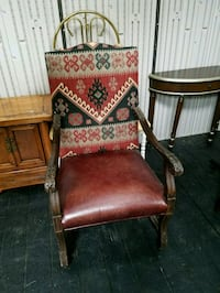 Leather Chair cloth back