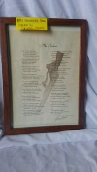 Autographed poetry/ framed Center, 58530