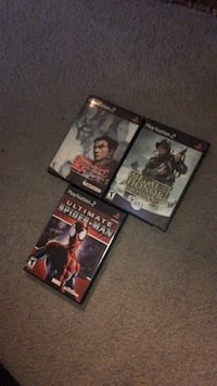 tekken tag tournament 2 , medal of honor, & ultimate spiderman PS2 Columbia, 21044