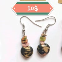 RHODONITE, RHODOCHROSITE & UNAKITE EARRINGS 10$ Ottawa, K1G