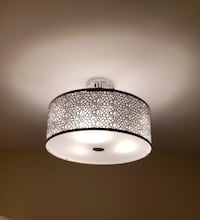 3lights, flush mount, nice looking , M3H 5T7