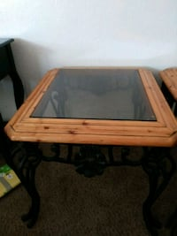 rectangular brown wooden framed glass top coffee table Albuquerque, 87121