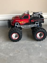 red and black RC monster truck Laredo, 78045