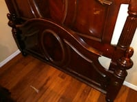 brown wooden headboard and footboard Irving, 75061