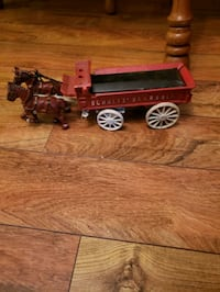 Shultz beer and ale cast iron wagon