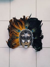 Full Face Feather Mask