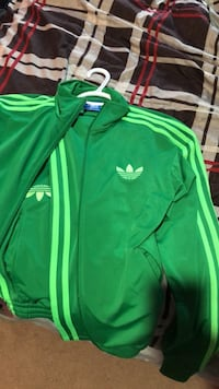 Green and white adidas tracksuit for sale! Surrey, V3W 1V8