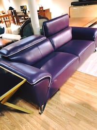NEW !Contemporary Purple Leather Sofa And Chair