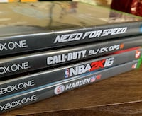 *** 5 XBOX ONE GAMES FOR $40 *** Turlock, 95382