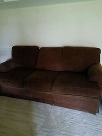 brown fabric sofa, loveseat, and Ottoman  Gaithersburg, 20886