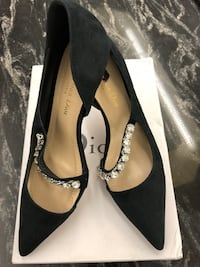 Lady's black suede leather heeled shoes  Richmond Hill