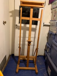 Wooden easel for painting and drawing