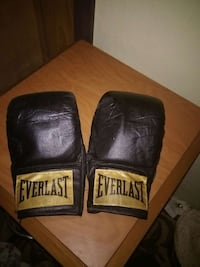 black-green Everlast leather boxing gloves Tyler, 75702
