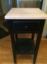 brown wooden single-drawer end table VANCOUVER