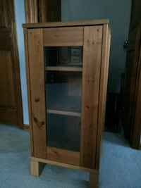 cabinet with  glass door.