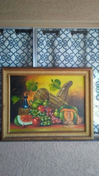green and blue fruits painting 1948 mi
