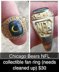 Chicago Bears NFL fan ring Broken Arrow