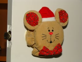 NEW Christmas Mouse Door Handle Cover Decorations