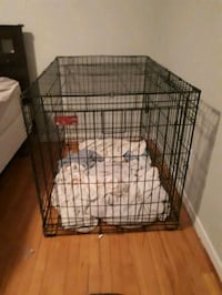 black metal folding dog crate Shearwater, B0J 3A0
