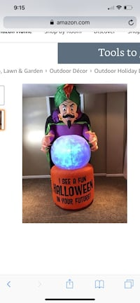 Halloween Inflatable Fortune Teller w/ Projection Crystal Ball Winchester, 22601