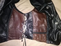 brown and black leather vest Ocala, 34471