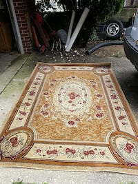beige, red, and gray floral area rug Washington, 20019