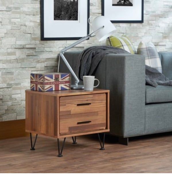 Chestnut two drawer bedside tables (2) a238e447-d035-40cd-a13e-cb72c3f8afd4