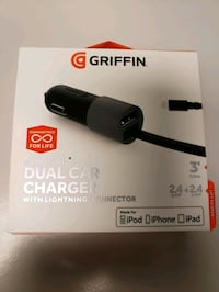 Griffin PowerJolt Dual Car Charger with Lightning Cable  Mississauga, L4W 5A7