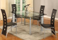 Metro Glass top Dining Set **SALE** Several Colors mix & Match**No Credit Needed Options** Essex