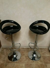 two black leather bar stools Indianapolis, 46254