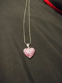 Heart-Shaped Ruby Necklace with Chain Wellesley, N0B 2T0