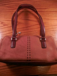 brown and white leather tote bag Toronto, M6L 1A4