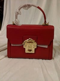 Lafestin Red leather top handle handbag complete w Halethorpe, 21227