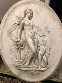 naked woman embossed decorative plate